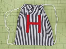 Drawn purse simple backpack