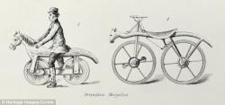 Drawn pushbike 19th century