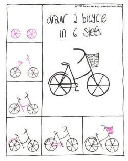 Drawn pushbike basic