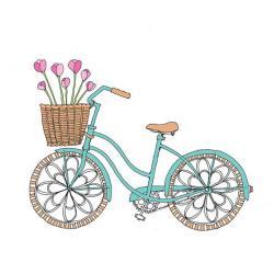 Drawn pushbike basket drawing