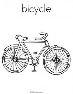 Drawn pushbike color