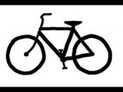Drawn pushbike easy bike