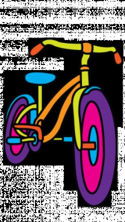 Drawn pushbike kids bike