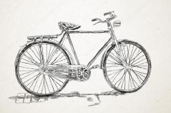 Drawn pushbike