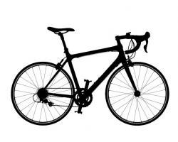 Drawn pushbike race bike