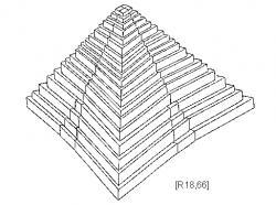 Drawn pyramid sided