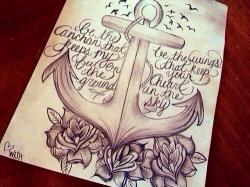 Drawn anchor quote