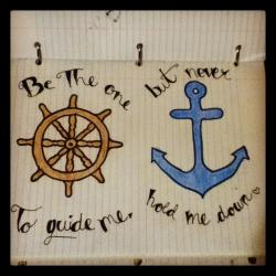 Drawn anchor love quote