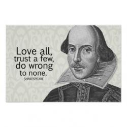 Drawn quoth shakespeare