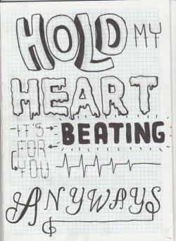 Drawn quoth song lyric