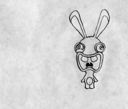 Drawn rabbid