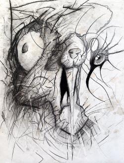Drawn rabbid psychedelic