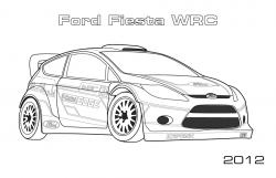Drawn race car rally car