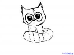Drawn raccoon chibi