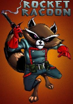 Drawn raccoon comic