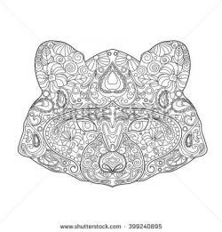 Drawn raccoon doodle