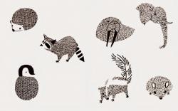 Drawn hedgehog artistic