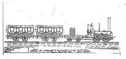 Drawn train john bull