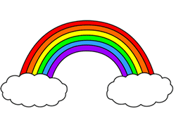 Drawn rainbow
