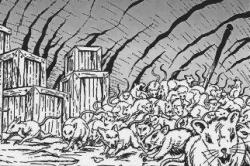Drawn rat swarm