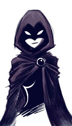Drawn raven anime