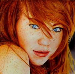 Drawn redhead