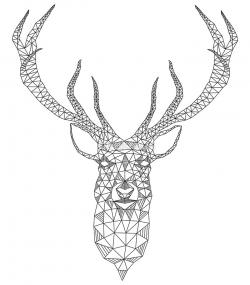 Drawn stag abstract
