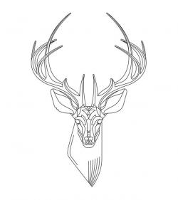 Drawn stag geometric