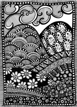 Drawn roadway doodle
