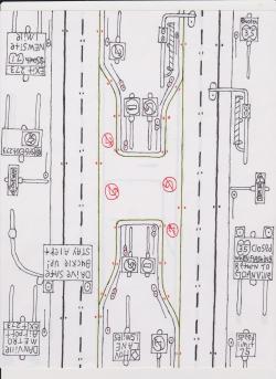 Drawn roadway draw