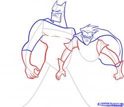 Drawn robin batman drawing