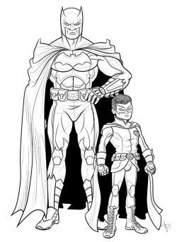 Drawn robin robin batman