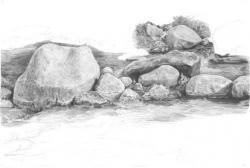Drawn rock