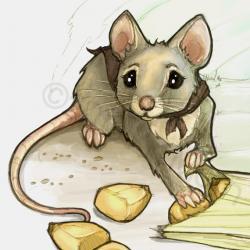 Drawn rat miss