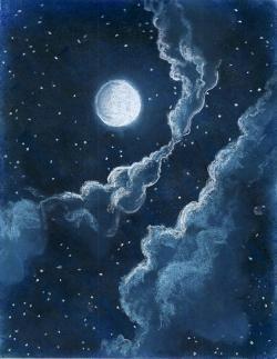 Drawn night sky starry night