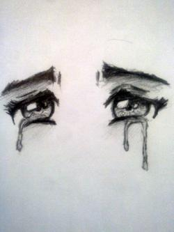 Drawn sad
