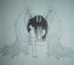 Fallen Angel clipart sad angel