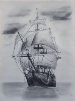 Drawn ship