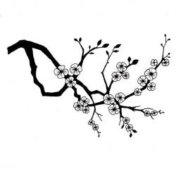 Cherry Blossom clipart silhouette