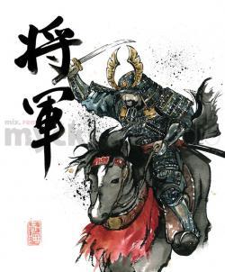 Drawn egg samurai