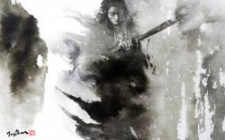 Drawn samurai