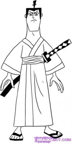 Drawn samurai easy