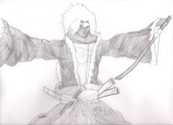Drawn ninja samurai anime
