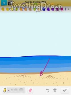 Drawn sand