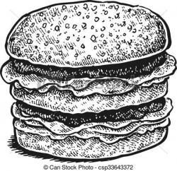 Drawn sandwich black and white