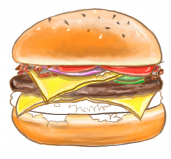 Drawn burger hamburger