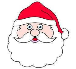 Drawn santa
