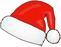 Drawn santa hat