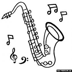 Drawn saxophone