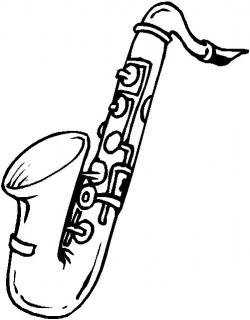 Saxophone clipart blues music